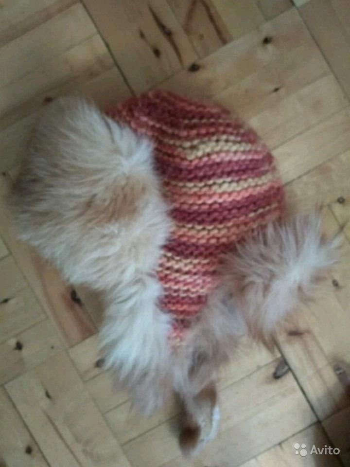 Пуховик colin's и шапка с мехом лисы