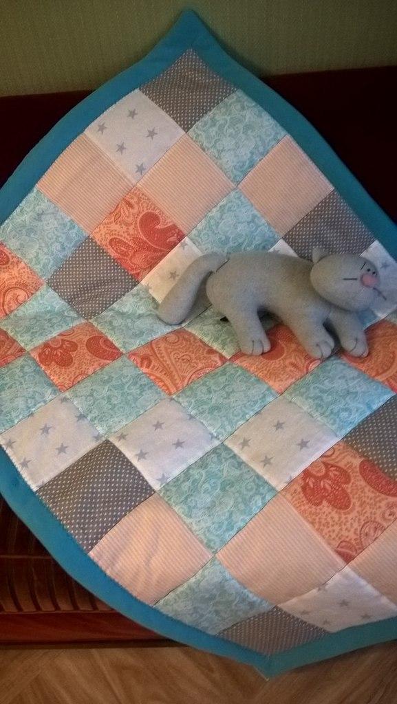 новое детское лоскутное одеяло