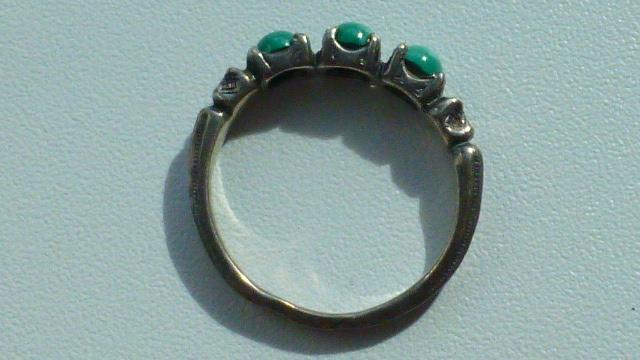 кольцо серебро с малахитами