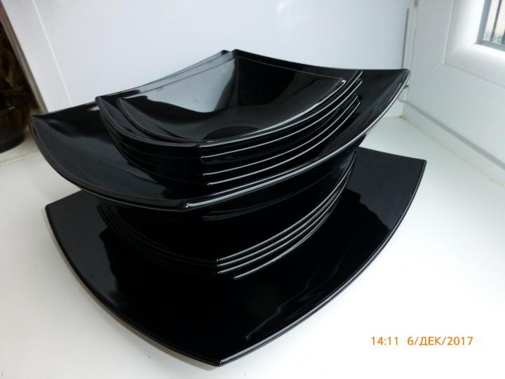 салатник Lumenarc 23,5 под чёрн.японский лак, 1шт.