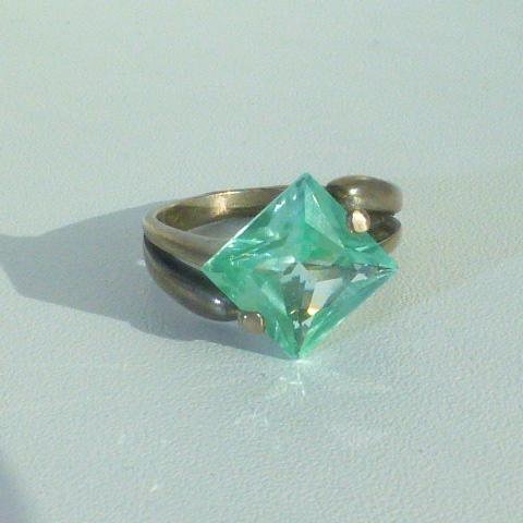 кольцо перстень серебро 925* с аквамарином