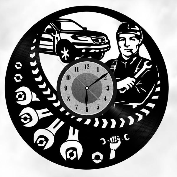 Оригинальные часы из винила!