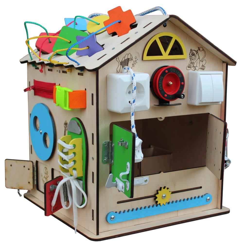 """Бизиборд домик """"Развивайка"""" развивающая игрушка"""