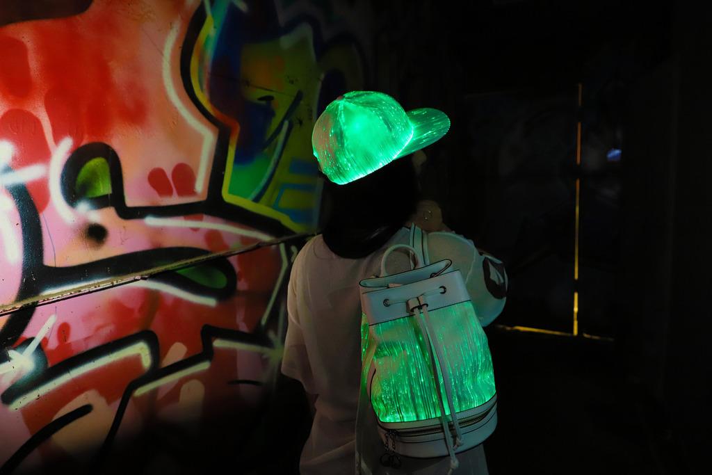 Светящийся в темноте Светодиодный Рюкзак Сумка