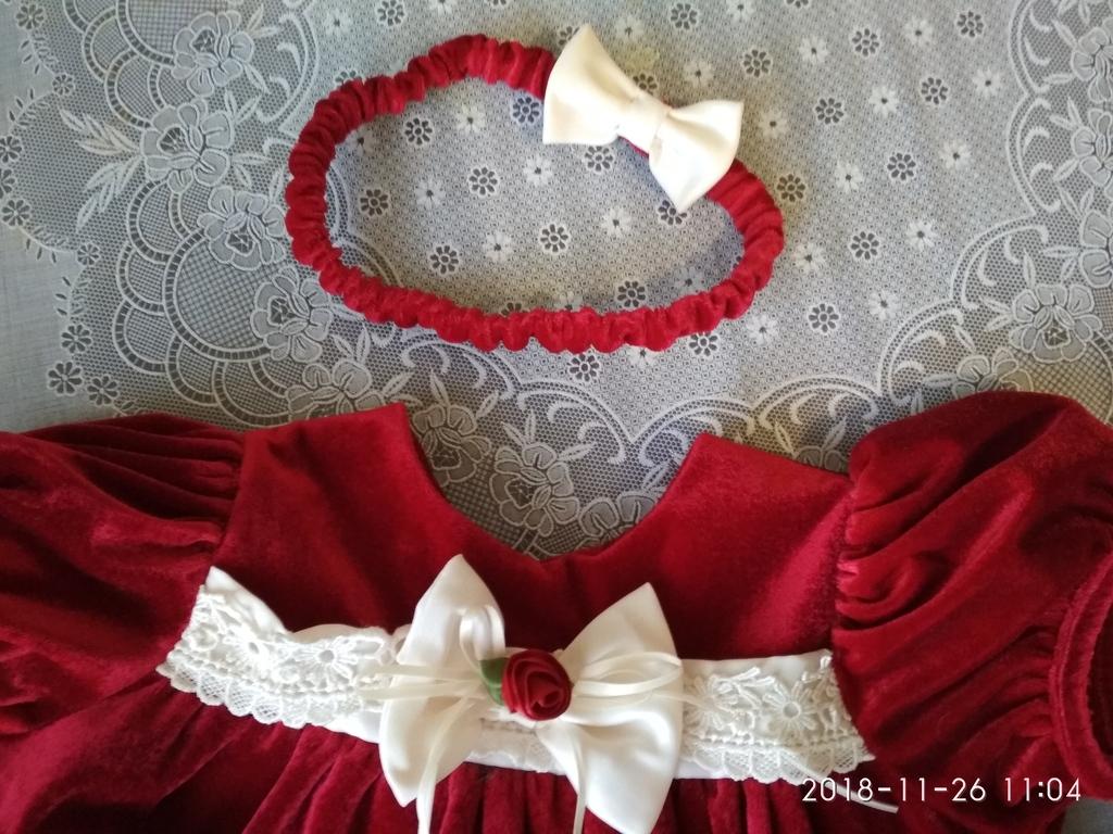 Платье нарядное праздничное 74-80 см рост