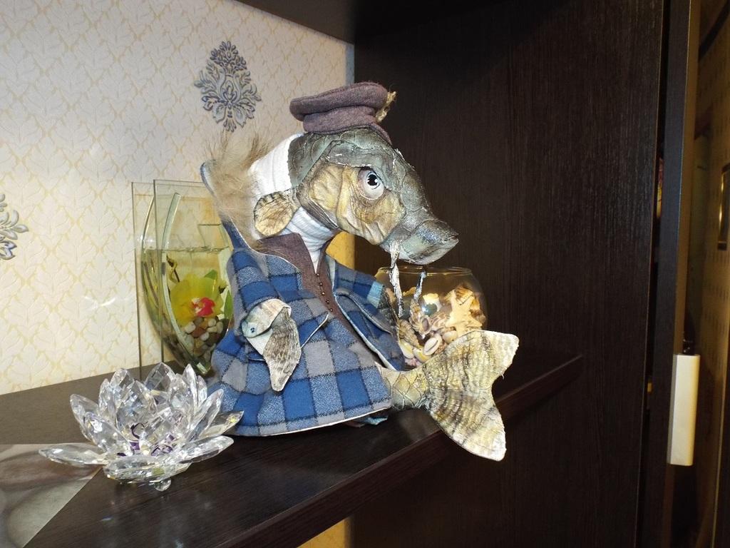 Интерьерная кукла (игрушка) рыба, пескарь, карась