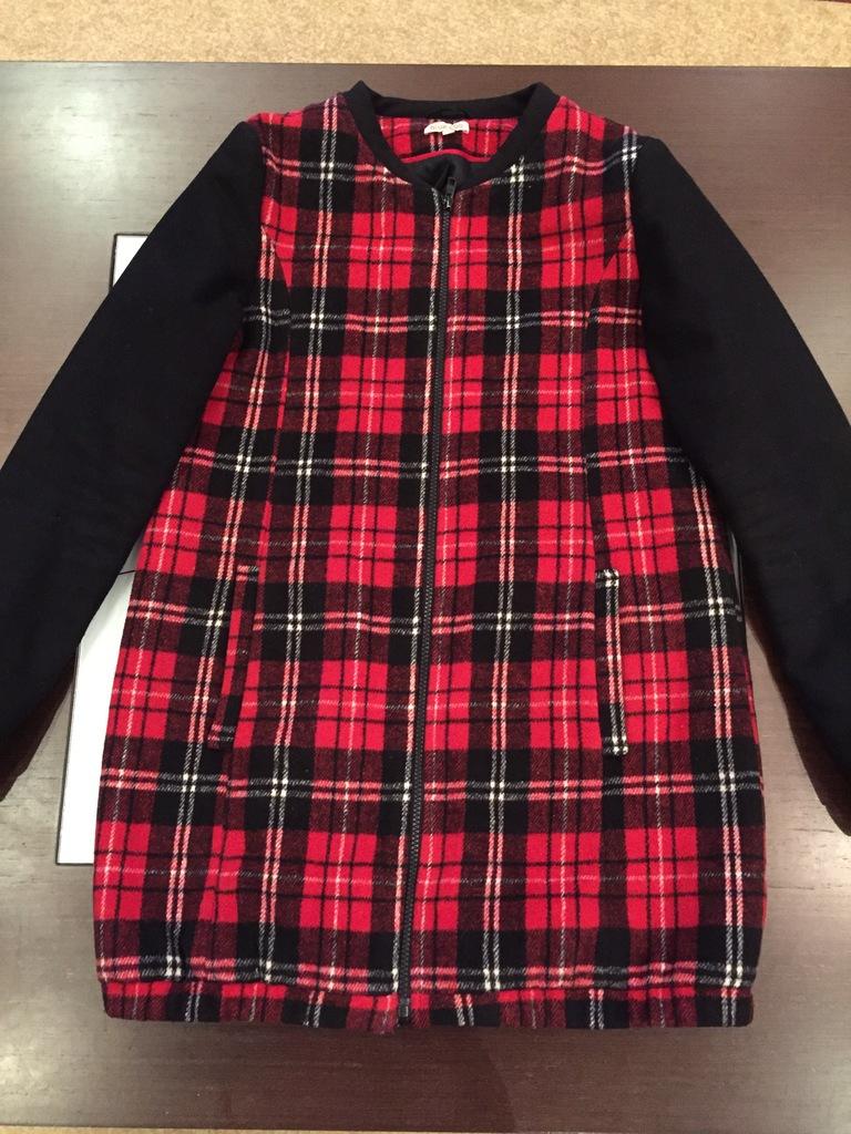 Пальто-куртка клетка.