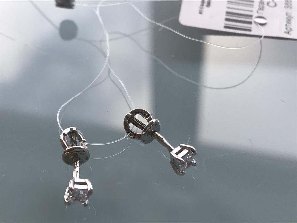 Новые Серебряные гвоздики (серьги-пусеты)