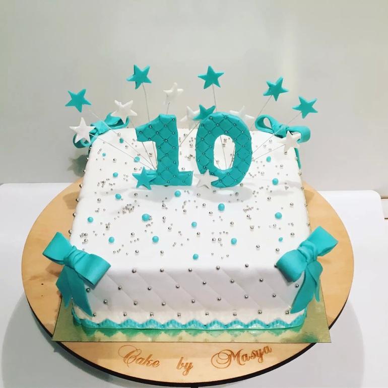 торты для девочки на 10 лет фото