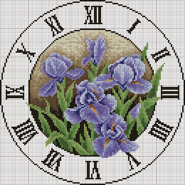 схемы цветы для вышивания крестиком
