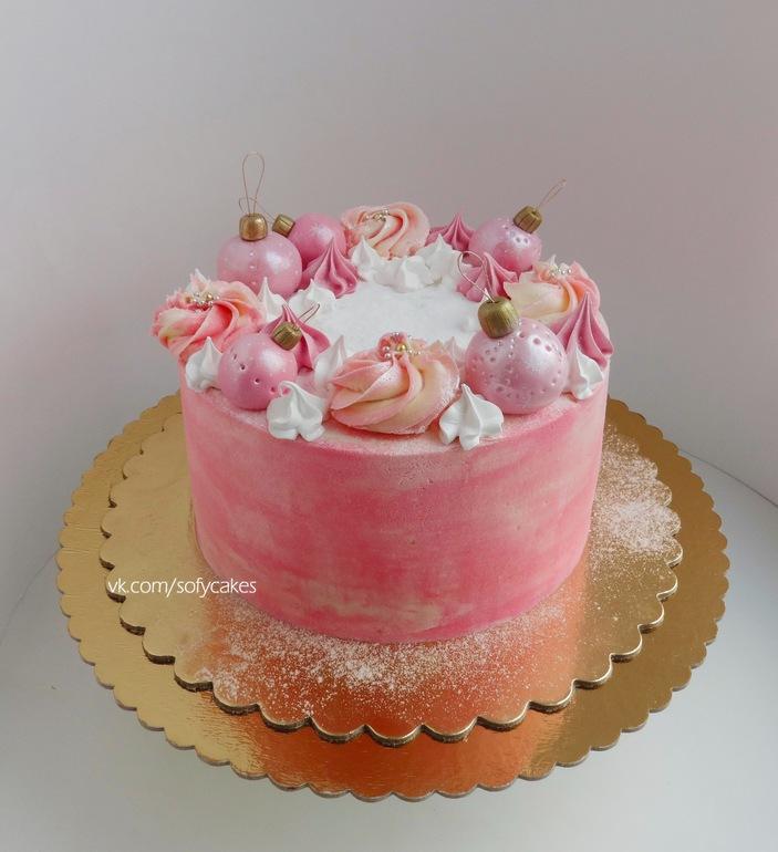 торт на 2 года девочке без мастики фото
