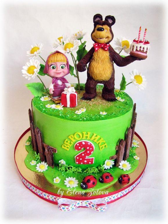 маша и медведь картинка для торта