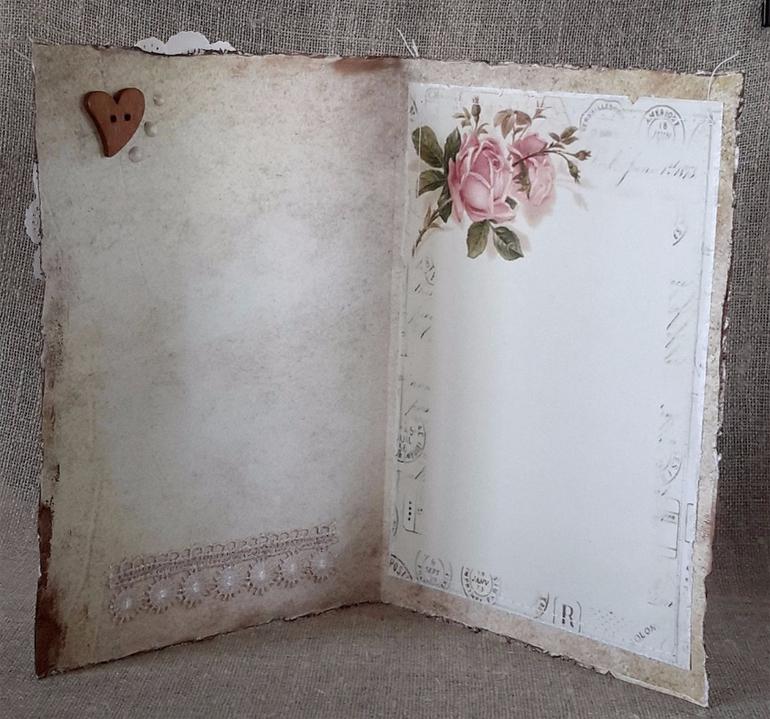 Скрапбукинг внутренней части открытки