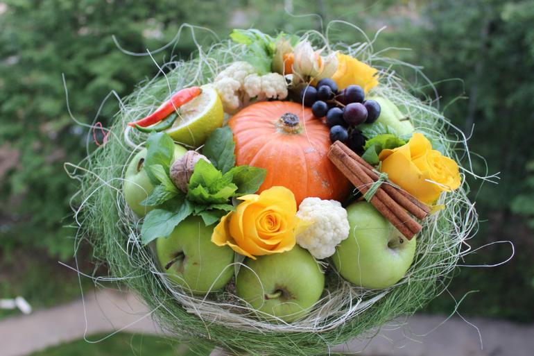 поздравления на свадьбу с овощами и фруктами можете