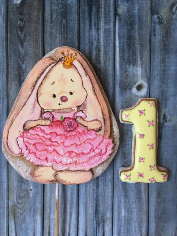 Японии, картинка 1 годик девочке с зайчиком