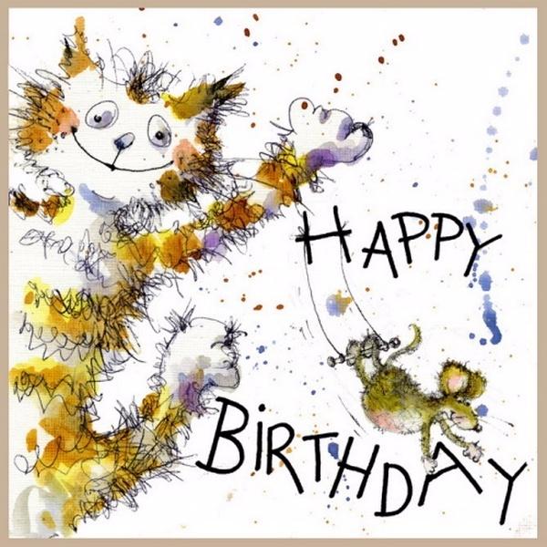 Открытки с днем рождения от художника, для поздравления