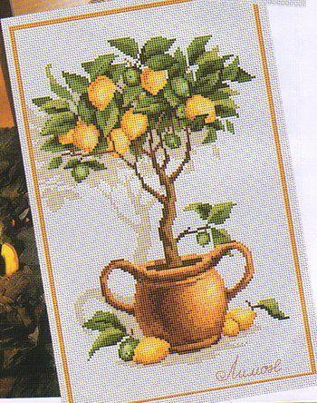 Апельсиновое дерево вышивка схема