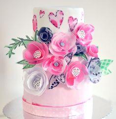 Цветы из вафельной бумаги своими руками 538