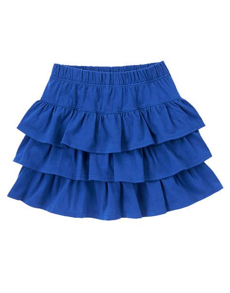 юбка с рюшами крючком для девочки схема