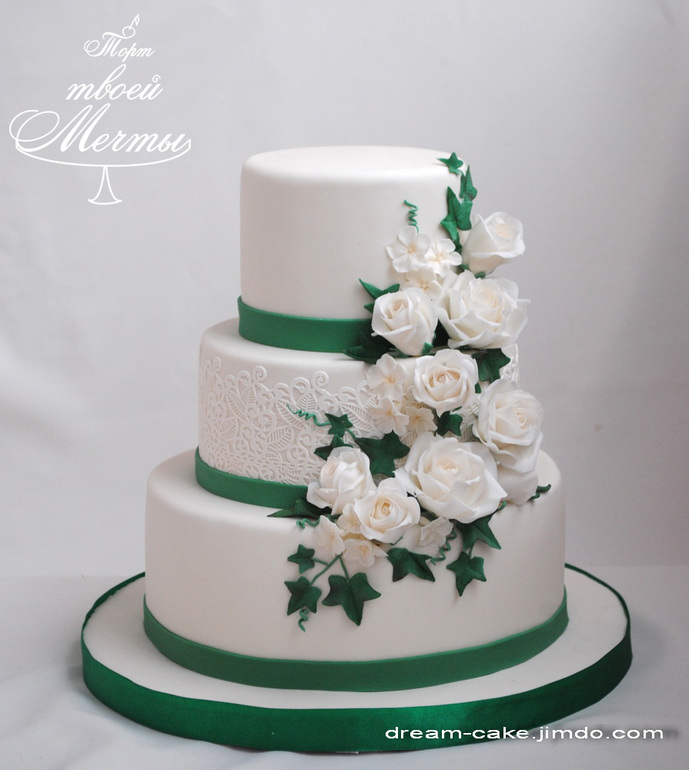 Торт на изумрудную свадьбу фото