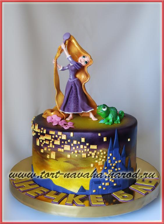 Детский торт рапунцель фото