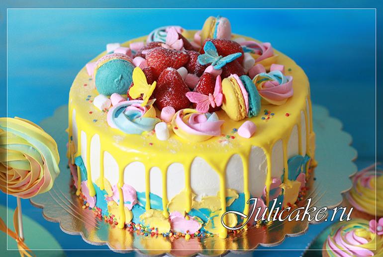 199Вкусный торт на день рождения рецепт с мастикой