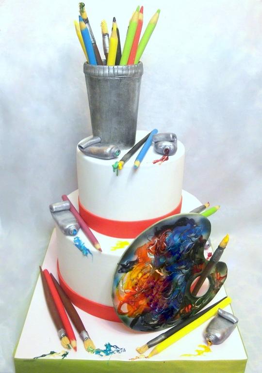 сложные торт палитра с красками фото стоит тратить нервы