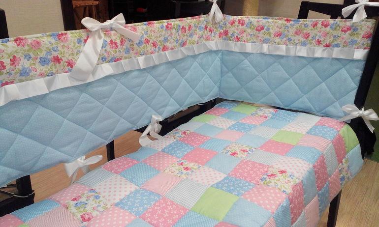 Бортики в кроватку малыша своими руками: идеи, выкройки 39