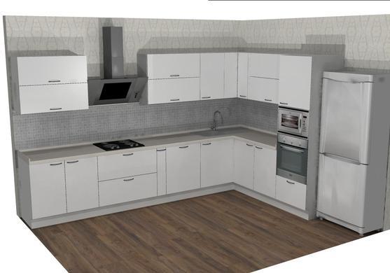 кухни с наклонной вытяжкой фото