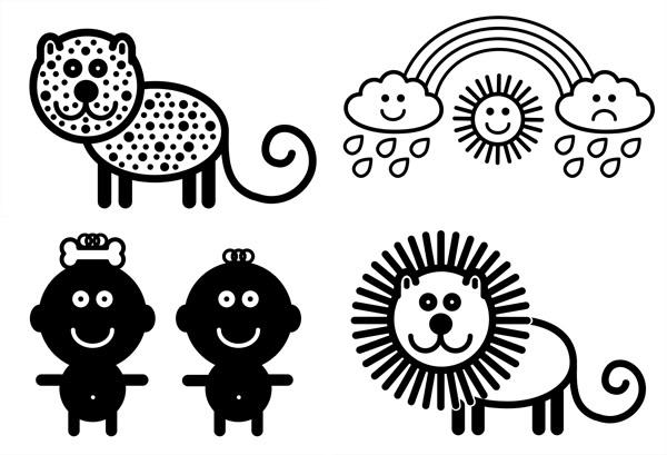 Монтессори-картинки для новорожденных | расти умным!