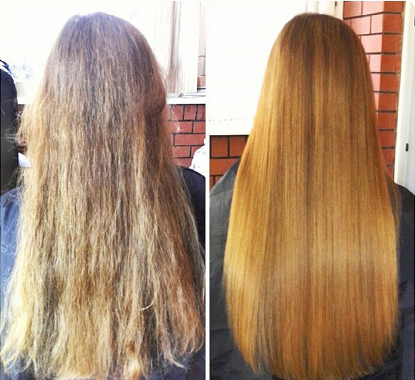 Сделать кератиновое выпрямление волос в москве