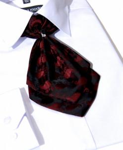 ГАЛСТУК-ЖАБО+платок бордово-черный