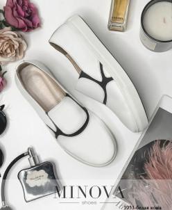 Туфли №1033-Белая Кожа