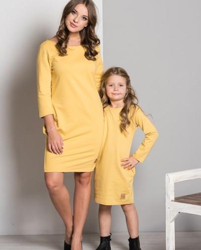 Комплект LUMIDE K119-D12 платьев с карманами медовый