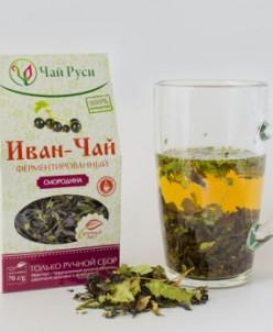 Иван-чай ферментированный с листом смородины (70 гр)