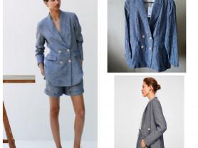 Льняной пиджак Mango