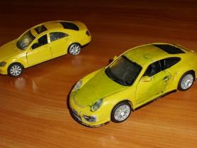 Машинки желтые - 2 штуки 1 лот