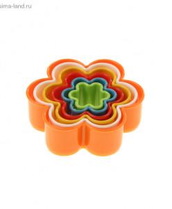 """Набор форм для печенья из 6 шт """"Цветочек"""", цвета МИКС"""