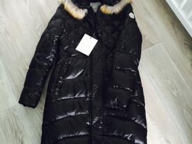 новый пуховик-пальто с бирками