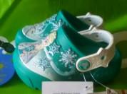 Новые бирюзовые сабо Crocs, с мигалками, оригинал