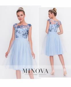 Платье №2103-Голубой
