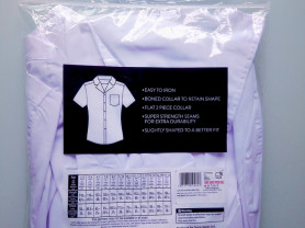 2 белые рубашки с коротким рукавом девочке 12-13л