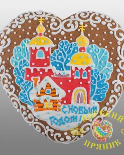600-2 «Сердце новогоднее» большое в ассортименте (дизайн 2)