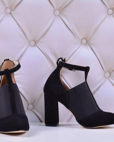 Женские замшевые туфли на каблуке