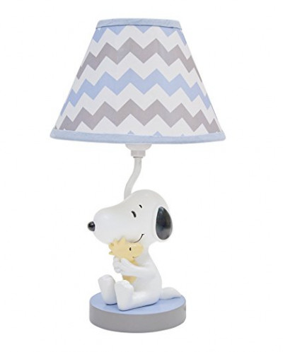 Lambs & Ivy My Little Snoopy Lamp with Shade and Bulb