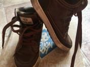 Ботинки кожа,внутри байка