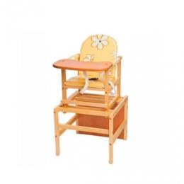 Стол-стул Октябренок Ромашки, желтый, дуб/бук, светлый, ПМДК