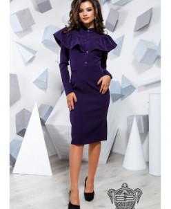 Платье с воланом - 16651