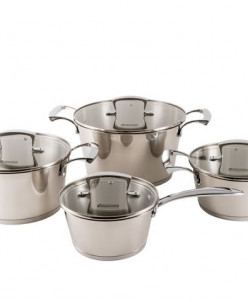 0666 WERNER Набор посуды MEMENTO 8пр: 3 Кастрюли 2,0л/18см,