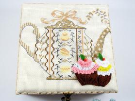 Шкатулка для чайных пакетиков (ручная работа)